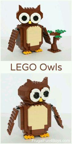 #Corujas ♡ * Feitas com Lego * ☆