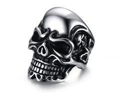US$ 2.50 Wholesale Stainless Steel Custom Skull Rings for Men