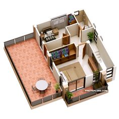 Havana is a two storey house with 3 bedrooms with usable floor area of 134 square meters. Note that the area of the terraces are not included, for purposes Two Storey House Plans, 3d House Plans, Model House Plan, Home Design Floor Plans, Duplex House Plans, Small House Plans, 3 Storey House Design, Two Story House Design, Small House Design