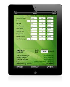 There are many ways to calculate airplane weight & balance with an iPad, but the best method we've found yet is with the Aviation W Calculator app. Available for $9.99 in the app store, this app makes it a breeze to perform routine weight & balance calculations.