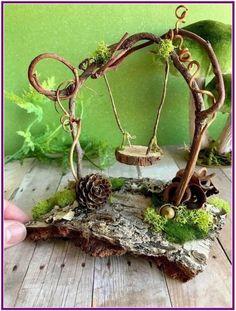 diy outdoor miniature fairy garden ideas 2 ⋆ Home & Garden Design Garden Gazebo, Fairy Garden Houses, Diy Fairy Garden, Diy Gazebo, Balcony Gardening, Garden Gnomes, Fairy Gardening, Fairies Garden, Veg Garden