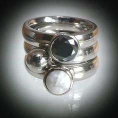 Zwart/zilver/wit