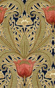 Beautiful Tulip Garden wallpaper from Aesthetic Interiors Historic Wallpapers