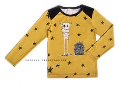 Rudes - organic jersey shirt by Unikuun terapiahuone. Its my own pattern design.