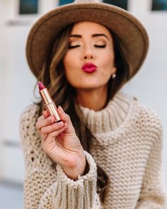 Favorite fall lipstick shade #beauty #makeup #fallfavorites