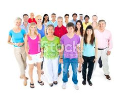 Multi-ethnic group of people Royalty Free Stock Photo