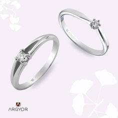Anillos de compromiso Oro y diamantes Argyor.