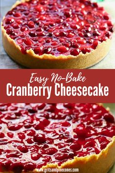 Loaded with fresh cranberries and luscious cream cheese, this delicious and decadent make-ahead cranberry cheesecake is perfect for the holidays and would look spectacular on your Thanksgiving or Christmas dessert table. #nobakedessert #cheesecake #holidaydessert Easy Cheesecake Recipes, Easy Cake Recipes, Dessert Recipes, Holiday Desserts, No Bake Desserts, Easy Desserts, Cranberry Cheesecake, Chocolate Raspberry Cheesecake, Super Easy Dessert Recipe