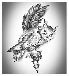 Owl Quill by J-King-21.deviantart.com on @deviantART