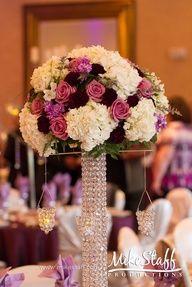 tall purple wedding centerpiece ideas - Google Search