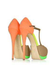 Giuseppe Zanotti Color Block Leather Platform Sandal