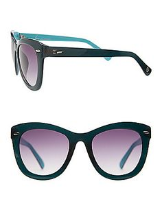 The finishing touch to your St. Patrick's Day look? Two-tone wayfarer sunglasses! #LaneBryant