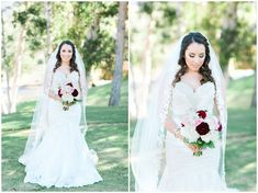 Bride portraits for a beautiful fall wedding at the Steele Canyon Golf Club in San Diego