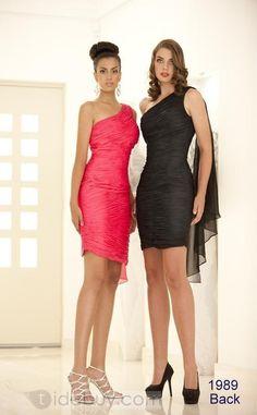 Terrific Sheath One-Shoulder Short/Mini-Length Cocktail Dress