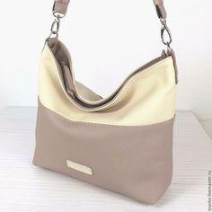 """Купить """"Пастель"""" сумка кожаная, хобо, цвет 3 и 4 - однотонный, сумка, женская сумка"""