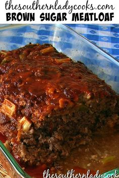 Brown sugar meatloaf is one of the most popular recipes on our site. This meatloaf is delicious and your friends and family will love it. Wonderful for any occasion. Hamburger Meat Recipes, Meatloaf Recipes, Pork Recipes, Cooking Recipes, Mince Recipes, Recipies, Beef Dishes, Food Dishes, Main Dishes