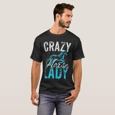 Crazy Horse Lady T-Shirt Nice Design - gift idea custom