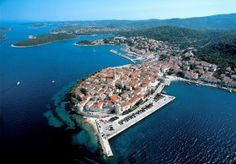 Korcula Old Town from a bird's eye perspective