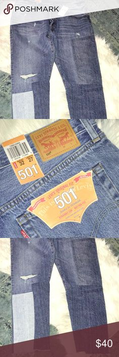 NWT LEVI JEANS Brand new ankle ripped jeans! Levi's Jeans