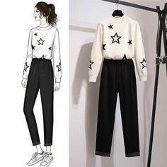 Girls Fashion Clothes, Teen Fashion Outfits, Stylish Outfits, Cute Outfits, Fashion Drawing Dresses, Dress Sketches, Korean Girl Fashion, Fashion Design Sketches, Knit Fashion