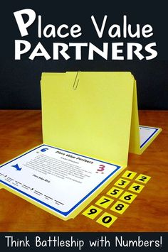 Place Value Partners is a fun place value game that's like playing Battleship with numbers! Your kids will love playing this math game in math centers, with cooperative learning partners, or in small guided math groups. Teaching Place Values, Teaching Math, Teaching Career, Teaching Ideas, Place Value Math Games, Number Games, 4th Grade Math, Third Grade, Math Class