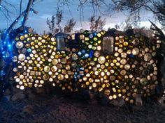 I'm creating something like this in my fireplace. Back-lit with xmas lights.