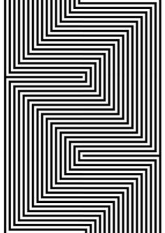 Shaan's media content and analytics Cool Optical Illusions, Art Optical, Optical Illusion Art, Op Art, Arte Linear, Illusion Drawings, Graph Paper Art, Geometric Drawing, Abstract Line Art