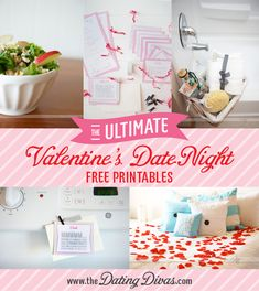 The BEST {and most memorable} at-home Valentine's Day EVER! All of the ideas are outlined, free printables, delicious meal ideas, and the activities - are ALL in this post!