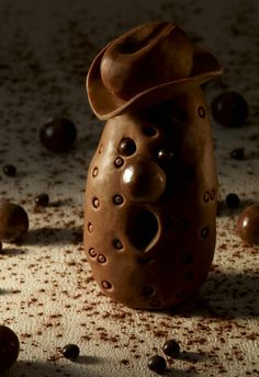 "Monsieur Patate ""Le chocolat qui me fait craquer"" Christophe Michalak. Editions Plon Chocolate Fashion, Chocolate World, Luxury Chocolate, Chocolate Dreams, Chocolate Art, How To Make Chocolate, Chocolate Recipes, Chocolate Cakes, Chocolate Showpiece"