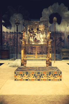 Golden Throne - Tutankhamun, his Tomb and his Treasures Exhibit.