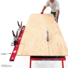 Saw Tips and Tricks Elongate your table saw fence with a long level or timber to stabilize long board cuts.Elongate your table saw fence with a long level or timber to stabilize long board cuts. Essential Woodworking Tools, Best Woodworking Tools, Woodworking Techniques, Woodworking Bench, Woodworking Crafts, Woodshop Tools, Woodworking Courses, Woodworking Beginner, Youtube Woodworking