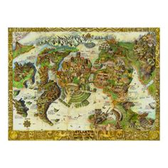 Atlantis Center of the Ancient World Posters