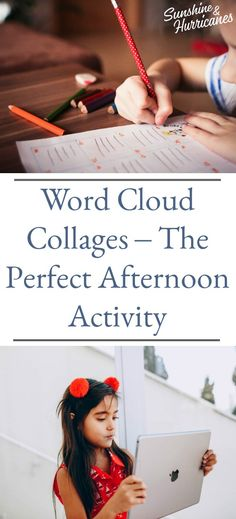 Word Cloud Collages-The perfect Afternoon Activity #Fun #AfternoonFun #Collage #AfternoonActivity #Activity Summer Fun For Kids, Cool Kids, Art For Kids, Crafts For Kids, Word Collage, Book Suggestions, Class Projects, Parenting Teens, Business For Kids