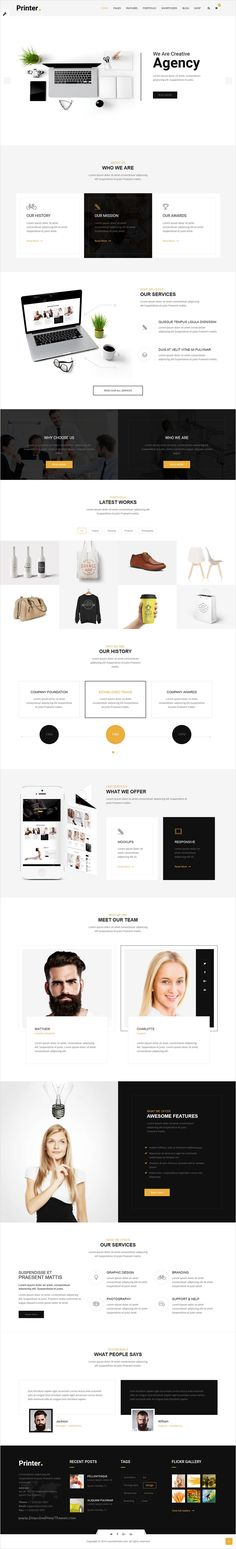 Printer is beautifully design versatile #agency #bootstrap HTML #template for stunning website with 60+ multipurpose homepage layouts download now➩ https://themeforest.net/item/printer-responsive-multipurpose-html5-template/17365545?ref=Datasata