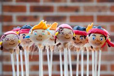 Jake and the Never Land Pirates cake pops