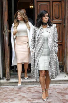 Kim & Khloe out in NYC - February 10, 2015