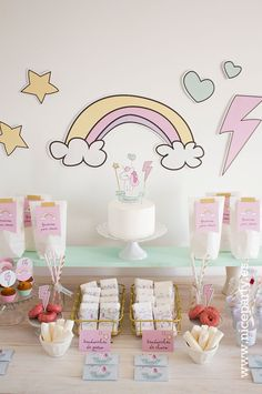Nuevo kit de fiesta Baby Unicorn | Niceparty Elegant Birthday Party, Diy Birthday, Birthday Parties, Party In A Box, Party Kit, Birthday Party Decorations, Party Themes, Happy B Day, Childrens Party