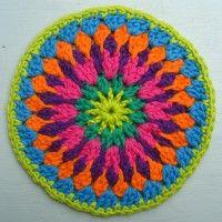 Crochet Mandala Wheel made by Bonnie, USA, for yarndale.co.uk