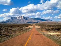 Lonesome Hwy Guadalupe Mts West Texas
