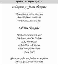 Examples Of Wording For Quinceanera Invitations This Layout Works