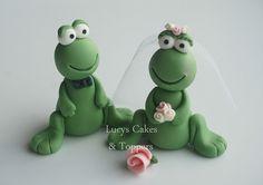 Frog Bride & Groom Cake Topper