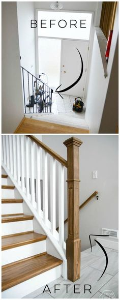 How to install a wooden handrail on split level stairs (the DIY way)