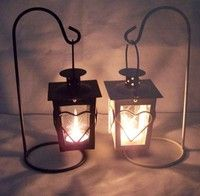Wish | Wrought iron candlestick love The wedding gift romantic storm lantern Creative home crafts accessories furnishing articles