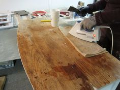 How To:  remove wood veneer from furniture