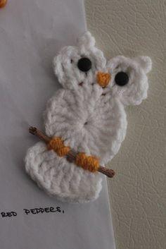 crochet owl on twig!