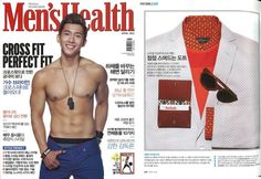 """Men's Health Japan featured MARK / GIUSTI """"All you need"""" cards holder in their April 2013"""