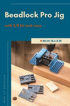 Drill specially-shaped mortises to accept Beadlock loose tenons—creates incredibly strong, concealed joints! #CreateWithConfidence #Beadlock #Jig #RocklerInnovations #NewAtRockler Rockler Woodworking, Woodworking Hand Tools, Woodworking Shop, Drill Guide, Wood Dust, Router Bits, Plastic Molds, Joinery, Wood Projects