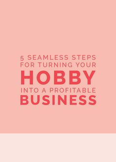 Trying to figure out how to turn your hobby into a business? A great post from the Collaborative to get you started.