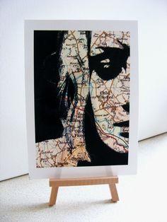 Urban art: Collage print - Contemporary artwork. £8.00, via Etsy. Let ya mind wander..........