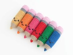 Amigurumi pencil (link to free pattern)